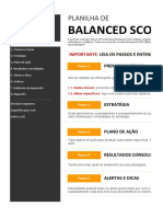 Planilha de BSC - Exemplo