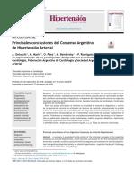 2019 Principales conclusiones del Consenso Argentino de Hipertensión Arterial