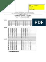 LEMBAR JAWABAN ONLINE MTP KLAS 4C1&2