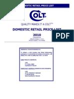 2010 Retail Price List