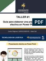 TALLER. Presentaciones en PPT