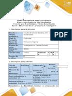 Guía de actividades y rúbrica de evaluación - Paso 5 - Elaboración de una propuesta de investigación