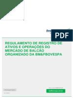 BackOffice-Regulamento-de-Registro-de-Ativos-e-Operacoes-do-Mercado-de-Balcao-Organizado-da-BMFBOVESPA-RECERTIFICAÇÃO