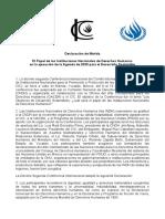 Merida Declaration FINAL ESP