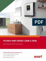 Inversor PV1800 VHM (220V) SPECS (1)