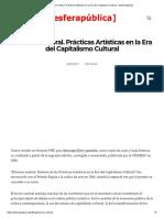 El Tercer Umbral. Prácticas Artísticas en la Era del Capitalismo Cultural – [esferapública].pdf