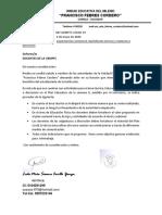 OFICIO CIRCULAR 007-  alcances semana 8 -  bachillerato tecnico- materias a discresion