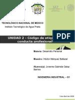 Unidad 2 - Codigo de etiqueta y conducta profesional