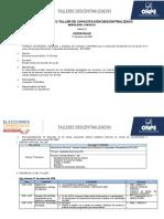 Diseño metodológico del décimo cuarto taller descentralizado Orientador CON-SEA
