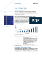Solar Cell Supply Chain