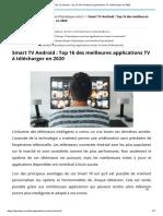 Smart TV Android _ Top 16 des meilleures applications TV à télécharger en 2020