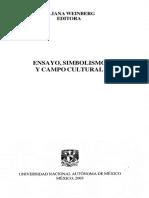 ensayo, simbolismo y campo cultural - Centro de Investigaciones ....pdf