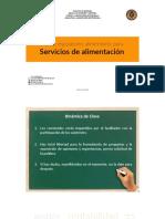 – Tema 5. Marco Regulatorio Alimentario para los Servicios de Alimentación