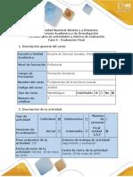 Guía de actividades y rúbrica de evaluación - Fase 6 Evaluación final