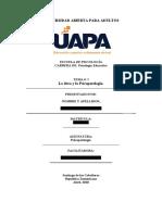Psicopatologia I Tarea I (UAPA)