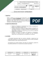 PRG-SST-0XX Programa Capacitación