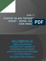 Hukum Islam tentang zakat , infak, haji kelompok 4