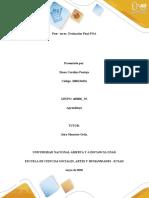Guía de actividades y rúbrica de evaluación - Post - tarea- Evaluación Final POA (Prueba Objetiva Abierta)