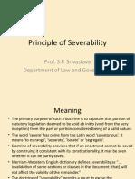 Principle of Severability