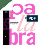 Gadamer, Hans-Georg - Arte y verdad de la palabra.pdf