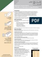 Datasheet on Concrete Blocks