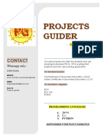 PROJECTS GUIDER