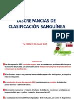 DISCREPANCIAS DE clasificacion
