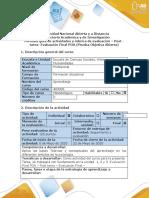 Guía de actividades y rúbrica de evaluación - Post - tarea- Evaluación Final POA (Prueba Objetiva Abierta).docx
