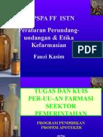 07 REGULASI, PELAKSANAAN DAN PENGAWASAN FARMASI - SEKTOR PEMERINTAH TUGASDAN KUIS