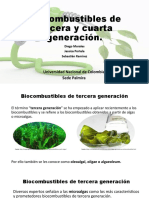 Biocombustibles de tercera y cuarta generación