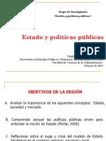 Presentación política, Estado y mercado 2019 a