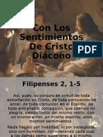 TEMA 4 Con Los Sentimientos De Cristo Diácono