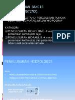 Hidrologi; PENELUSURAN BANJIR