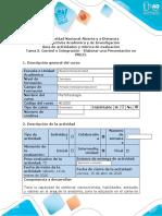 morfifisiologia Guía de actividades y rúbrica de evaluación - Tarea 3. Control e Integración