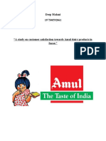 SIP project on amul dairy products