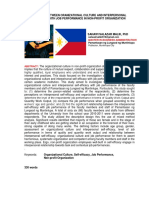 Relationship Between Organizational Culture and Interpersonal Self - Efficacy with Job Performance in Non-Profit Organization