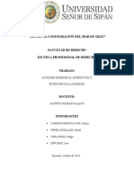 ACCIONES POSESORIAS INTERDICTOS EXTINCIÓN DE LA POSESION
