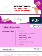 Difference Between Scientific Writing and Medical Writing