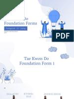 Taekwondo foundation form 1&2