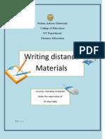 Writing Destance Materils