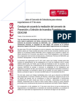Nota Prensa Sobre Geacam de Fta Ugt Clm