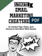 Email Marketing Cheatsheet