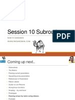 Session 10 Subroutines in Perl