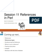 Session 11 References in Perl  in Perl