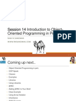 Session 14 Introduction to Object-Oriented Programming in Perl