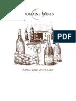 DW April 2020 Price List