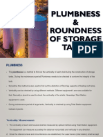 Plumbness & Roundness of Storage Tanks