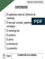 OGE - TEMA 5 - EL MARKETING EN LA EMPRESA 2012-2013