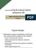 Monitoring dan Evaluasi dalam Pelayanan KB