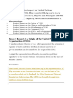An exclusive project report on United Nations Organization